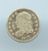 1836  5C CAPPED BUST HALF DIME  AG