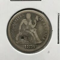 1876-S 10C SEATED LIBERTY DIME: DAMAGE