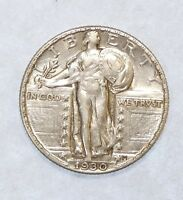 1930 STANDING LIBERTY QUARTER ALMOST UNCIRCULATED SILVER 25-CENTS