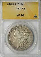1901-S $1 ANACS VF 20 BETTER DATE MORGAN SILVER DOLLAR