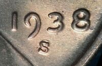 1938 S/S LINCOLN WHEAT CENT RPM 001 FS 501 LCR TOP 50   GEM B/U