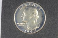 1967 25C SMS  SPECIAL STRIKE  WASHINGTON QUARTER