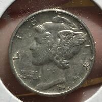 1945 MERCURY SILVER DIME MICRO.COLLECTOR COIN FOR YOUR SET OR COLLECTION. 5