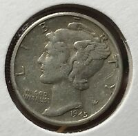 1945 MERCURY SILVER DIME MICRO.COLLECTOR COIN FOR YOUR SET OR COLLECTION. 12