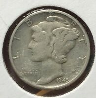 1945 MERCURY SILVER DIME MICRO.COLLECTOR COIN FOR YOUR SET OR COLLECTION. 13