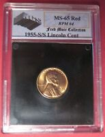1955 S/S LINCOLN WHEAT CENT NGS HIGH GRADE RED   RPM 004