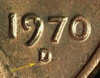 1970 D/D LINCOLN MEMORIAL CENT RPM 001   B/U
