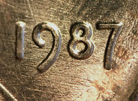 1987 LINCOLN MEMORIAL CENT DOUBLED DIE DDO 002 B/U   TOUGH VARIETY