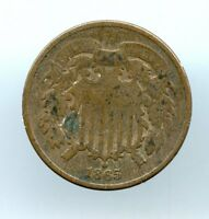 1865  2C TWO CENT PIECE  VG