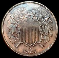 1864 TWO CENT  SHARP - BEAUTIFUL UNC DETAILS  2 CENT FREE S/H