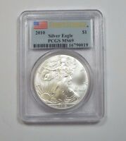 2010 FIRST STRIKE AMERICAN 1 OZ SILVER EAGLE $1 PCGS MINT STATE 69