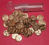 1962 D LINCOLN MEMORIAL CENT ROLL  50 COINS    BU