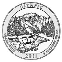 2011   ATB 5OZ SILVER OLYMPIC NATIONAL PARK BULLION COIN