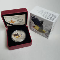 2016 $20 FINE SILVER COIN THE MIGRATORY BIRDS CONVENTION THE AMERICAN GOLDFINCH