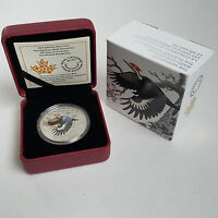 2016 $20 FINE SILVER COIN THE MIGRATORY BIRDS CONVENTION THE PILEATED WOODPECKER