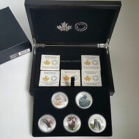 2016   2017 $20 MAJESTIC ANIMAL 5 COIN PROOF SET CANADA