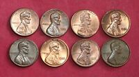 8 LINCOLN MEMORIAL CENTS WITH MIS ALIGNED DIE ERROR  MAD  LOT