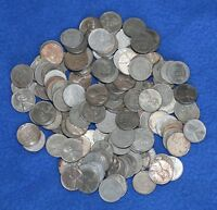 1943 D LINCOLN STEEL WHEAT PENNIES   LOT OF 150 MIXED CONDITION