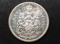 1959 CANADA FIFTY CENTS ELIZABETH II PROOF LIKE SILVER CANADIAN COIN A1907