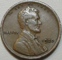 1920 1C LINCOLN CENT WHEAT PENNY LWC COPPER 9055