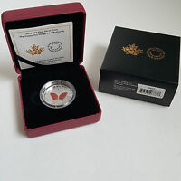 2016 $20 FINE SILVER COIN   THE COLOURFUL WINGS OF A BUTTERFLY