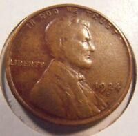 1924 D LINCOLN CENT, ATTRACTIVE BETTER GRADE LOW MINTAGE COIN, SEMI-KEY  24DX3