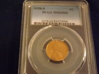 1938-S     LINCOLN CENT