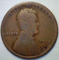 1912 D LINCOLN WHEAT CENT ONE CENT COPPER GRADE GOOD G R2
