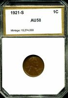 1921-S 1C LINCOLN WHEAT CENT IN CHOICE AU CONDITION