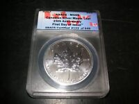 SILVER   MAPLE LEAF   CANADIAN COIN     2013   ANACS   MINT STATE 69
