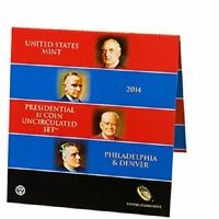 2014 PRESIDENTIAL $1 MINT SET BU EIGHT COINS SEALED AS RECEIVED FROM US MINT