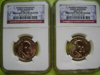 2007 JAMES MADISON P&D NGC BRILLIANT UNCIRCULATED 2-COIN DOLLAR SET