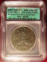 285 246 BC GREEK EGYPT PTOLEMY II LARGE AE 35MM ICG VF20