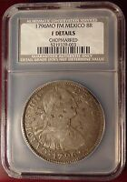 1796MO FM MEXICO SILVER 8 REALES CHOPMARKED NCS CERTIFIED