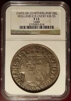 1693 NETHERLANDS 28S HOLLAND C/S COUNTER STAMP NGC CERTIFIED