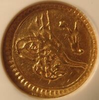 TURKEY AH1223//5 GOLD 1/4 Z NGC AU58
