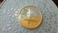 2009 100TH ANN OF FLIGHT GOLD PLATED PROOF SILVER DOLLAR