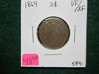 1869  TWO CENT