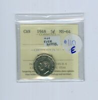 CANADA COIN:5 CENTS 1948 MS 64  EYES APPEAL..EST:110