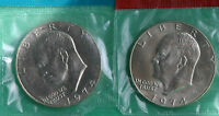 1974 P & D EISENHOWER DOLLAR COINS FROM US MINT SET BU CELLOS TWO IKE $1