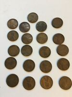 LOT OF 21 WHEAT PENNIES, MIXED 1920'S,USED