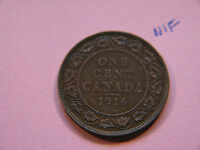 1916 CANADA LARGE CENT COIN  CANADIAN ONE CENT