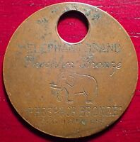 ELEPHANT BRAND PHOSPHOR BRONZE 19TH CENTURY ADVERTISING TOKEN