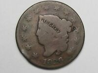 1826 US CORONET HEAD LARGE CENT COIN.  12