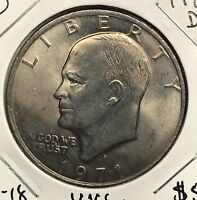 1971-D EISENHOWER DOLLAR.  COLLECTOR COIN FOR SET OR COLLECTION. 1