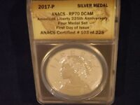 2017-P  AMERICAN LIBERTY 225TH ANNIVERSARY FIRST DAY OF ISSUE  ANACS PR 70 DCAM