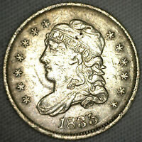 1835 CAPPED BUST SILVER HALF DIME UNITED STATES TYPE COIN GENUINE EXTRA FINE  5C K