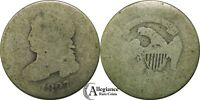 1827 10C CAPPED BUST SILVER DIME  ORIGINAL  OLD TYPE COIN MONEY