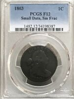 1803 DRAPED BUST LARGE CENT PCGS F12    34198387