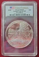 2010 25C GRAND CANYON NP 5 OZ. SILVER - FIRST STRIKE PCGS MINT STATE 69
